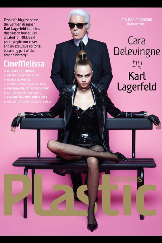 Karl Lagerfeld and Kara Delevingne for Melissa Shoes