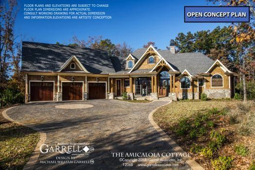 Amicalola Cottage 12068 Garrell Associates Inc Craftsman Style House Plans Rustic House Plans Craftsman House Plans