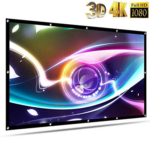 120 Inch Projector Screen Outdoor Movie Projection Screen Portable Video Home Theater Thicken Tv 4k Hd 120 Inch Projector Screen Outdoor Movie Projector Screen