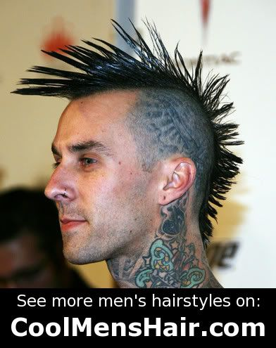 fade on the side haircut small liberty spikes mohawk travis barker sum182 day 9898
