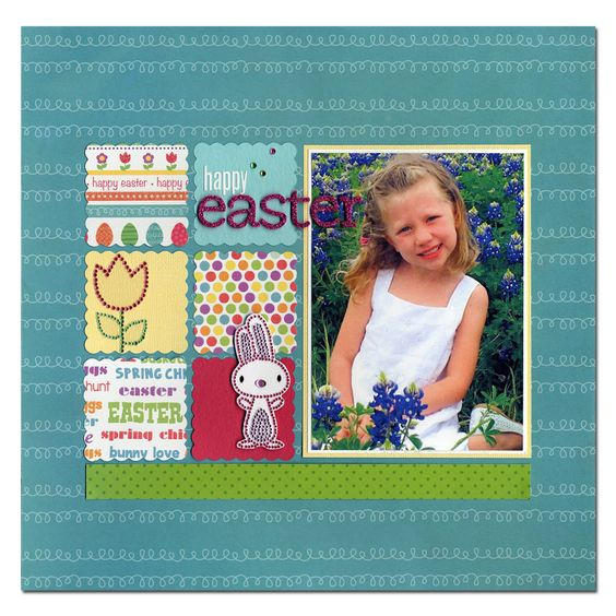 Easter Tulip Bunny Layout