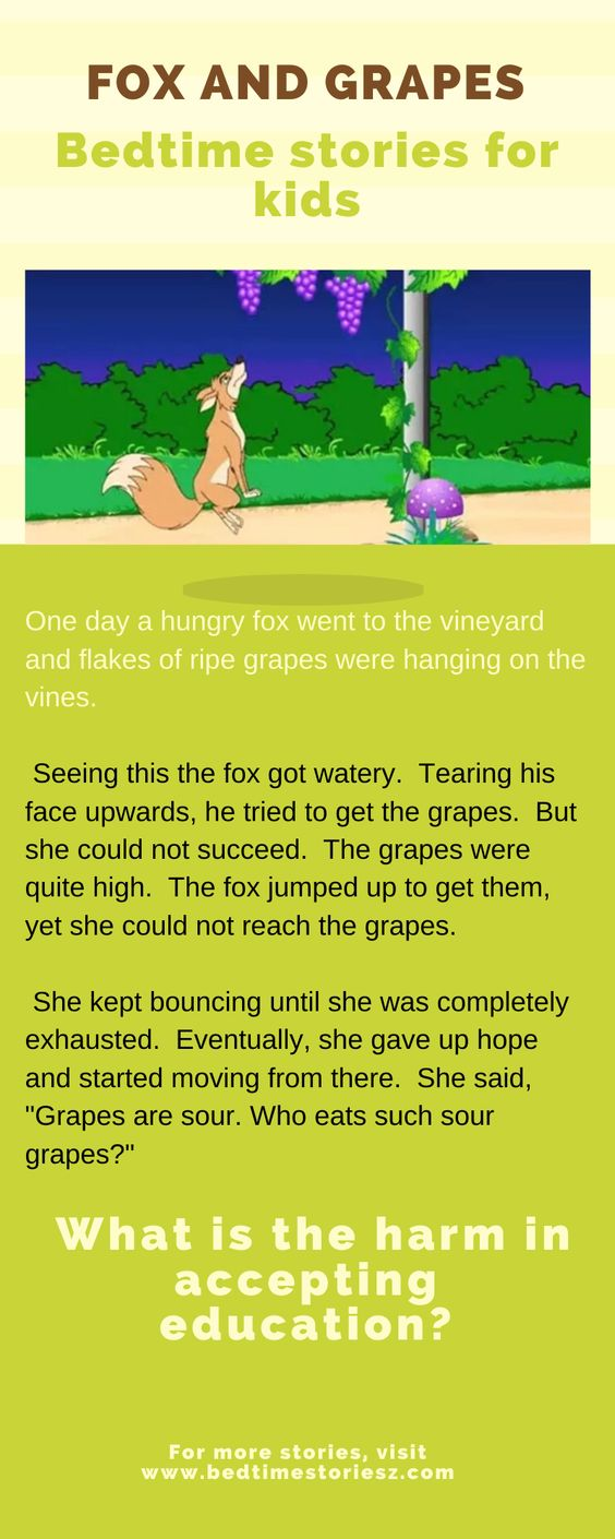 fox and the grapes story in english