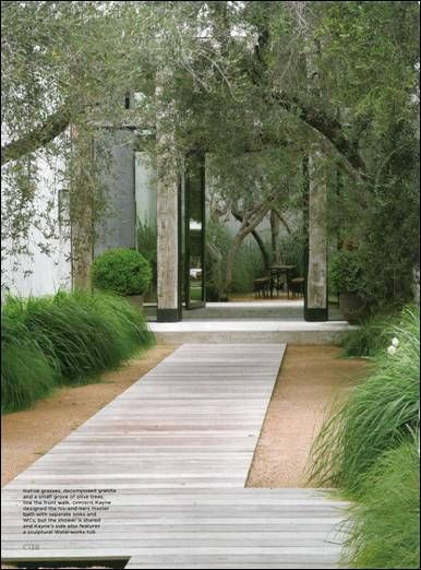[CasaGiardino]  ♡  Designer Jenni Kayne's Home: C Magazine architectural stone path striped stone straight lines