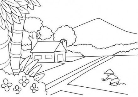 New Home Drawing Coloring Pages Ideas Drawing Home Dengan
