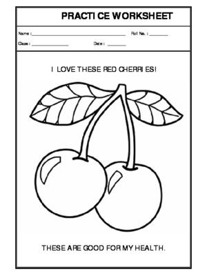 Recognition Of Red Colour 07 Worksheets Creative Worksheets Recognition