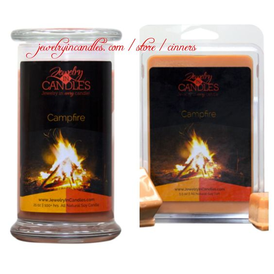 #ScentSunday: #Campfire is a blend of burnt wood (a campfire) with a hint of toasted marshmallows. You have the choice of men's or women's jewelry. https://jewelryincandles.com/store/cinners