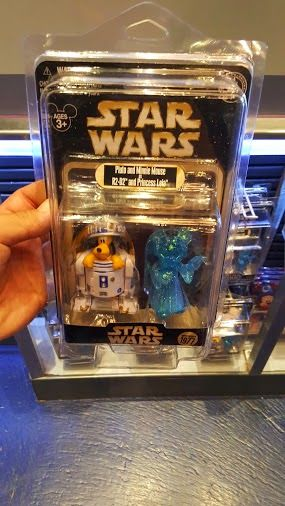 Disneyland Limited Editon Star Wars Pluto R2D2 and Minnie Mouse hologram Princess Leia