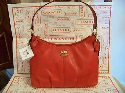 COACH MADISON  Cherry Leather Handbag New w/Tag  #46852    SALE ONLY $105.00