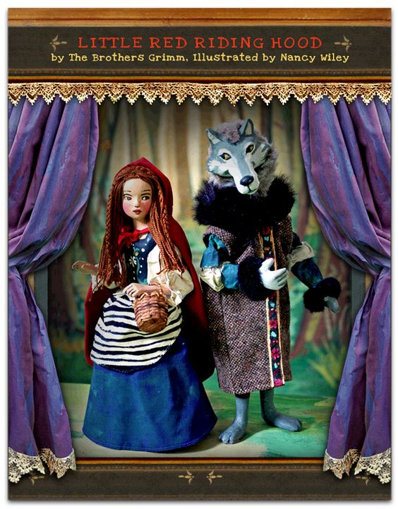 Portrayed as a stage play with Nancy Wiley's dolls and puppets as the characters, hand painted scenery  and backdrops complete the photo illustrations.