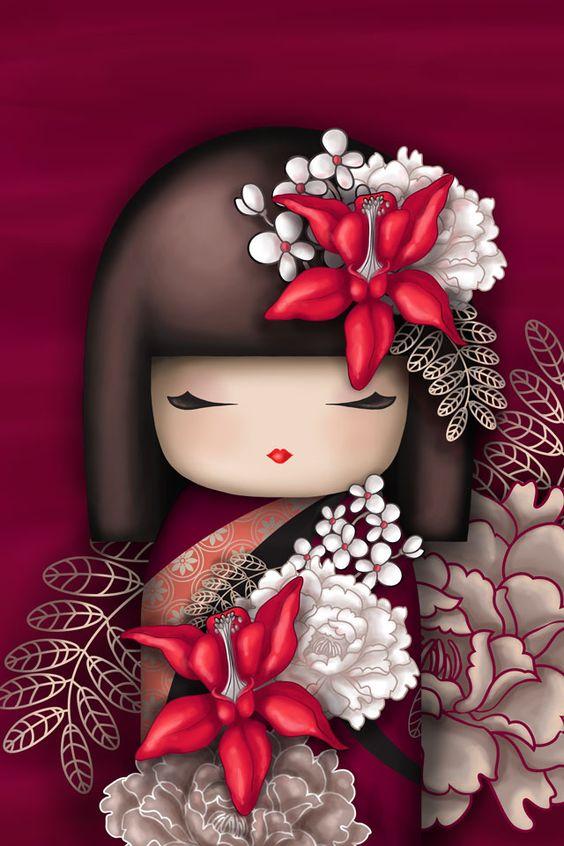 Voici kaïlan, une petite poupée rouge qui vie au japon