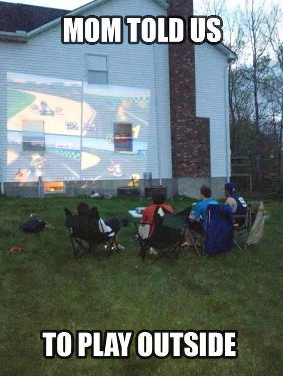I've always wanted to do this. Now I just want to rent out a theater and play games with people.: