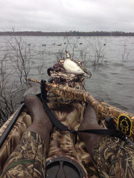 Kayak duck hunting Florida waterfowl