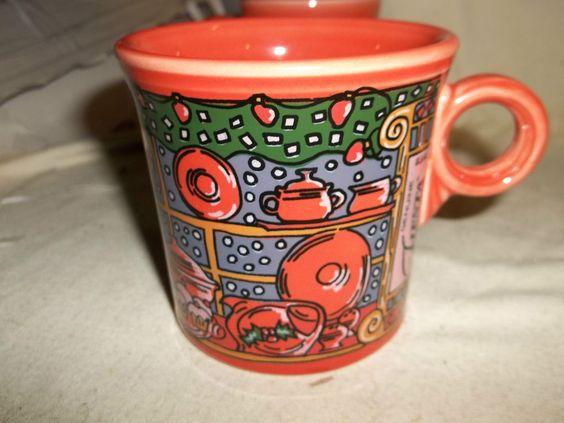 Vintage Fiesta Christmas mug on eBay