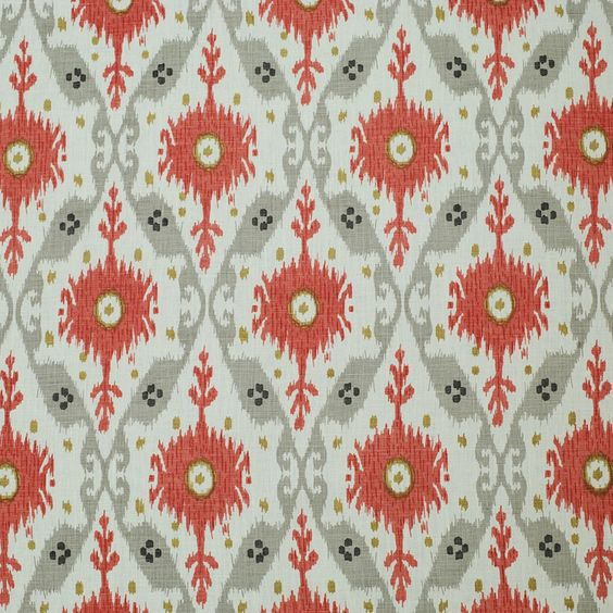 Clarence House Chennai Ikat In Grey 2 1 Fabric Linen Fabric Clarence House
