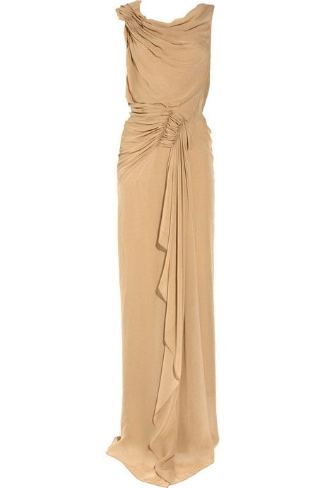 Donna Karan's Draped Stretch-jersey Gown is a must-have fashion item. You are going to like this chic attire.