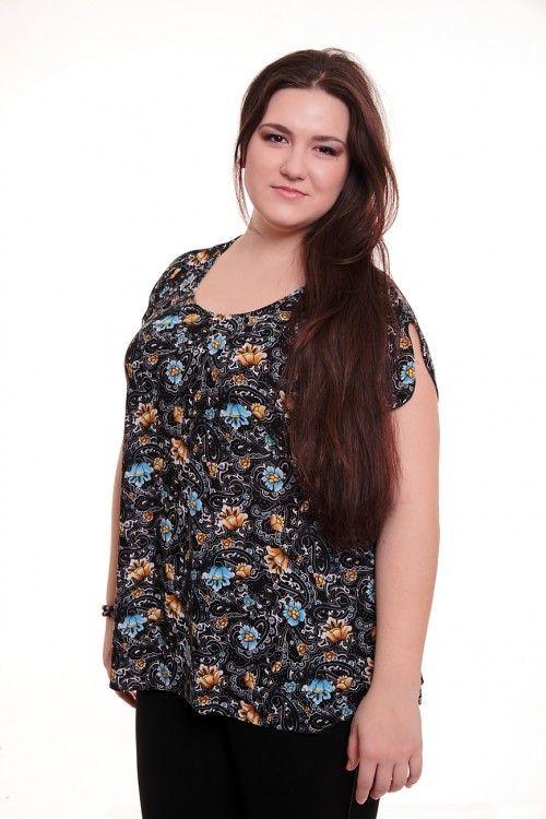Блузка А2448 Размеры: 62-70 Цена: 330 руб.  http://optom24.ru/bluzka-a2448/  #одежда #женщинам #блузки #оптом24