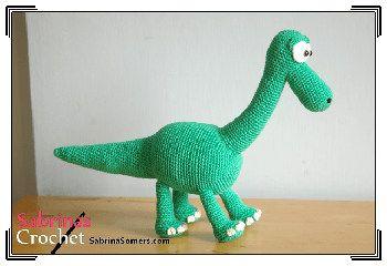 2000 Free Amigurumi Patterns: Free dinosaur toy crochet pattern: Arlo