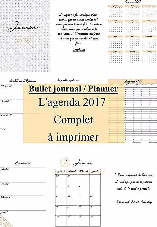 Agenda 2017 A Imprimer Gratuitement 4 Bujo Bullet Journal Organization Bullet Journal Planner Bullet Journal