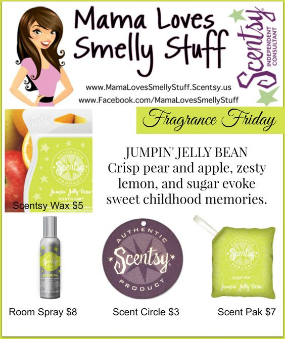 Fragrance Friday {Scentsy Pick of the Week} Jumping Jellybean | Mamas Coffee Shop Blog & Mama Loves Smelly Stuff #Scentsy #summer #spring #scents #FragranceFriday #PickoftheWeek