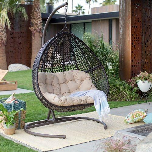 Brampton Double Cocoon Chair Walmart Com Patio Swing Chair Swinging Chair Small Patio Furniture