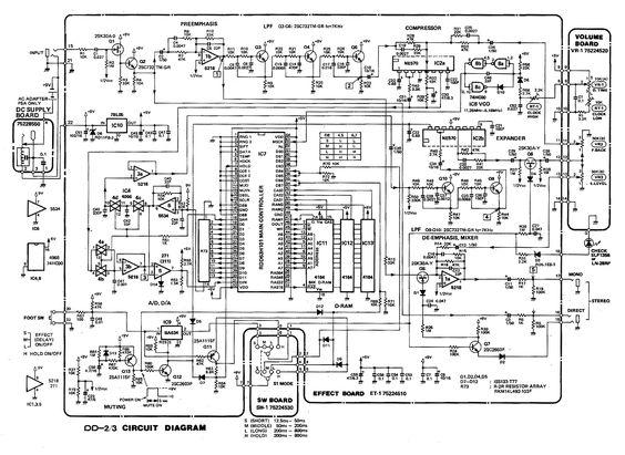 boss dd 2 digital delay pedal schematic diagram schem diy stompbox pinterest boss guitar. Black Bedroom Furniture Sets. Home Design Ideas