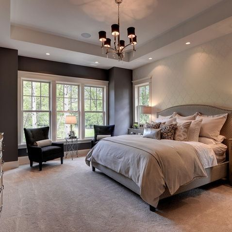 Love how these neutral colors make this bedroom look calm