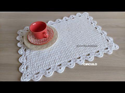 Jogo Americano Com Ponto Estrela Em Croche Passo A Passo Youtube Jogo Americano De Croche Sousplat De Croche Quadrado Croche De Tear