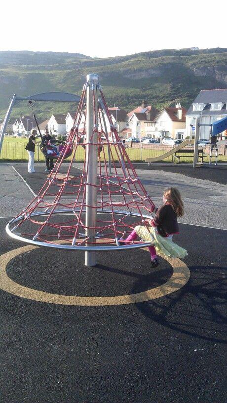 A climbing roundabout.