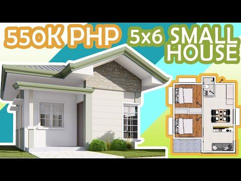 7 5x6 M Low Budget Bungalow House 2 Bedroom Youtube Budget House Plans Bungalow House Small House Plans Low budget 2 bedroom house plan