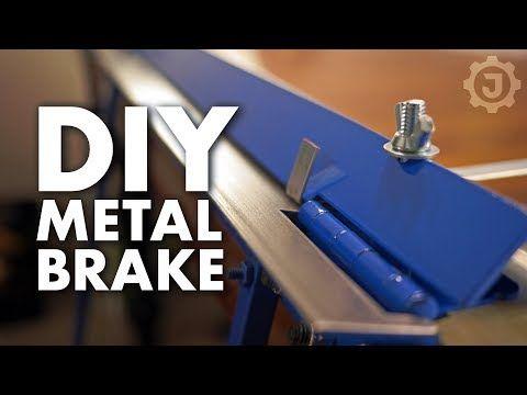 Simple Sheet Metal Brake No Welding I Love Working With Metal But I Ve Always Struggled To Get Perfect 9 Metal Bending Tools Sheet Metal Brake Metal Bending