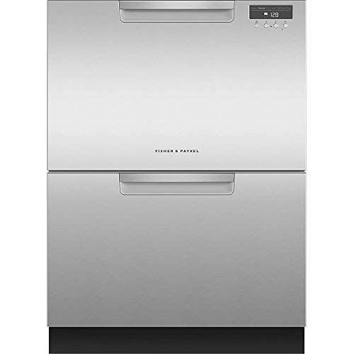 Fisher Paykel Dd24dax9n 24 Inch Drawers Full Console Dishwasher With 6 Wash Cycles 14 Place Settings Quick Wash In Stainless Steel Two Drawer Dishwasher Quiet Dishwashers Double Drawer Dishwasher