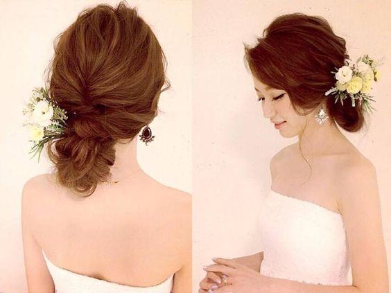 世界一かわいい花嫁に♪ロングヘアの結婚式ヘアアップアレンジ | AUTHORs: