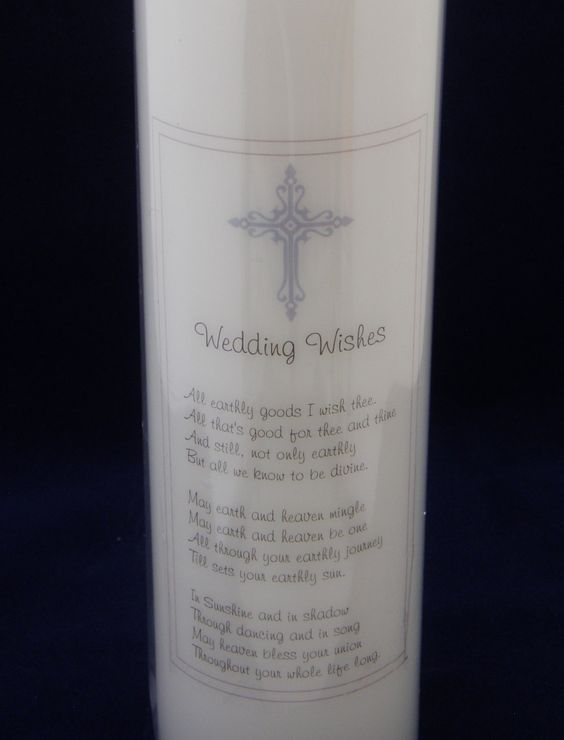 Wedding wishes with crucifix and frame by TheCandleandCardCo on Etsy