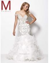 V-neck Preiswerte Luxuriöse Brautkleider Mac Duggal Royalty - Style 65241Y