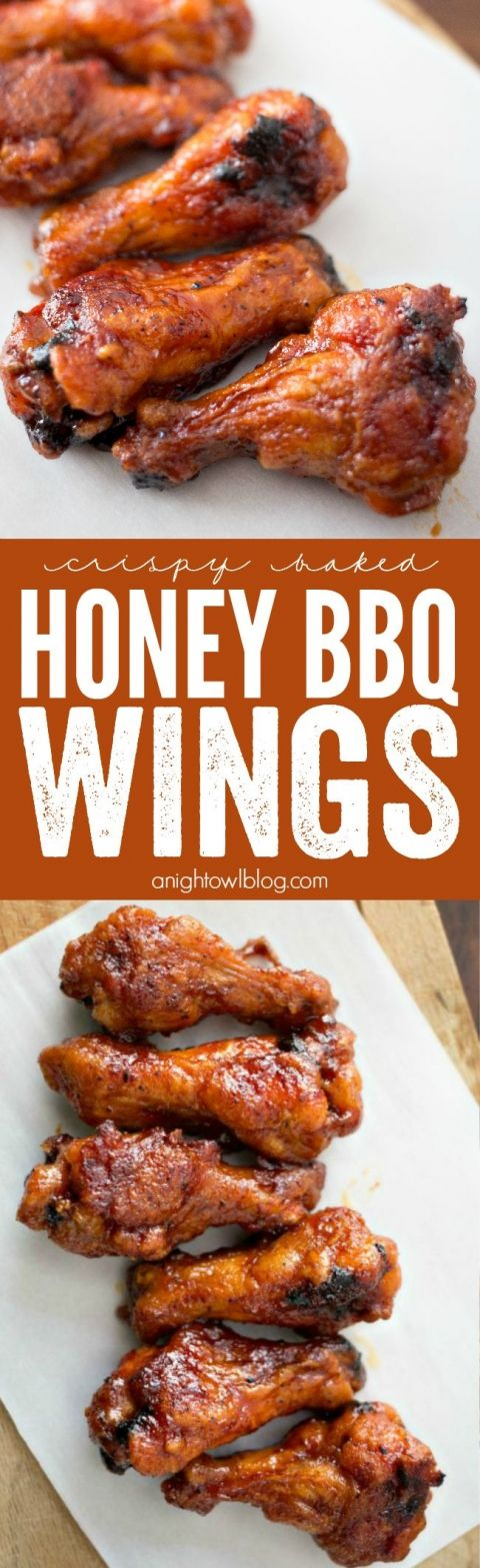 Baked Honey BBQ Wings | Recipe | Honey Bbq Wings, Bbq Wings and Wings ...