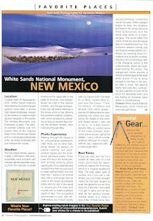 Article in Aprils Outdoor Photographer Magazine