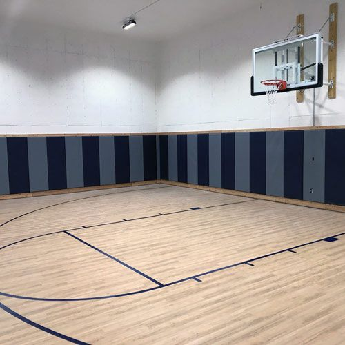 Custom Vinyl Foam Gym Fitness School Wall Pad 2x Ft Wb Liptb Astm In 2021 Home Basketball Court Basketball Wall Workout Room Home