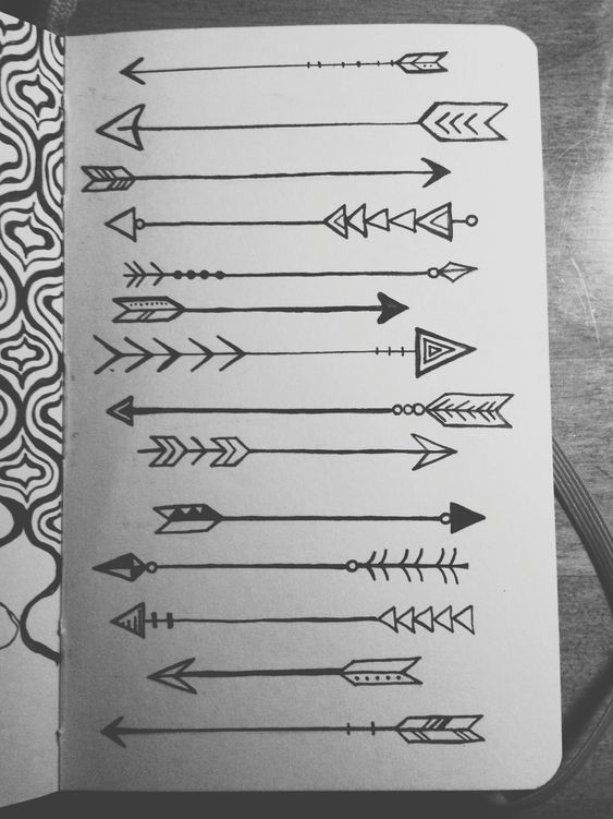 Arrows on arrows on arrows. Drawn with microns in my little red moleskine.