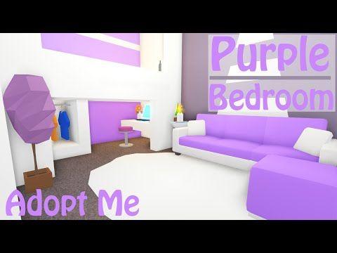 Purple Modern Bedroom Speedbuild Adopt Me Roblox Youtube Simple Bedroom Design Cute Room Ideas Modern Bedroom