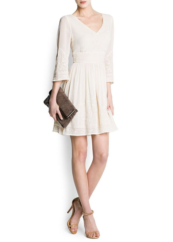 MANGO - CLOTHING - Dresses - Chiffon boho dress