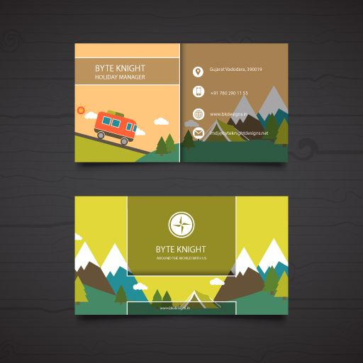 Business Card For Travel Business Free Design Bc169 With Images