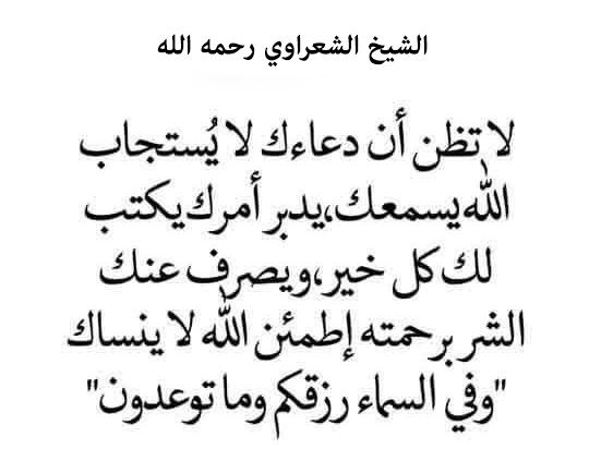 الشيخ محمد متولي الشعراوي رحمه الله Arabic Quotes Quotes Math