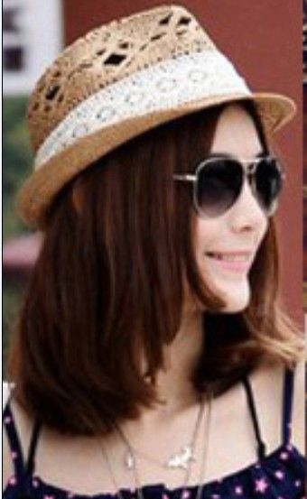 Wholesale Casual & Trendy Lace Bow-tie Hollow-out Straw Hat-----Yellow top dresses