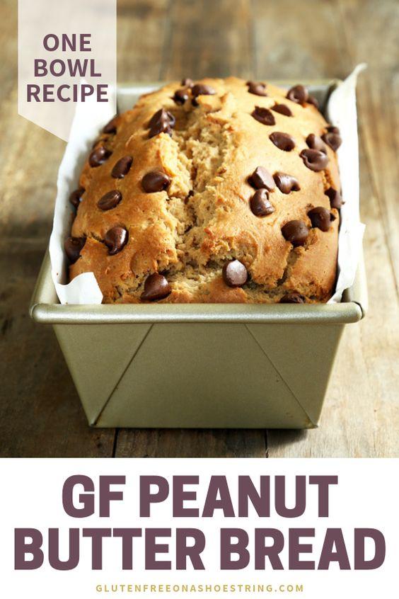 One Bowl Gluten Free Peanut Butter Bread