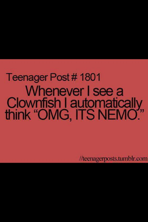 It's funny cuz nemo isn't the main character<< Nemo may not be the main character but at least you con feel like the hero because you found Nemo