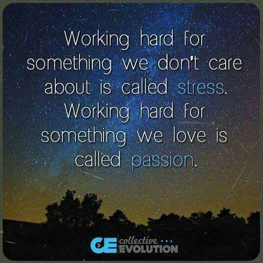 Stress?  Passion?