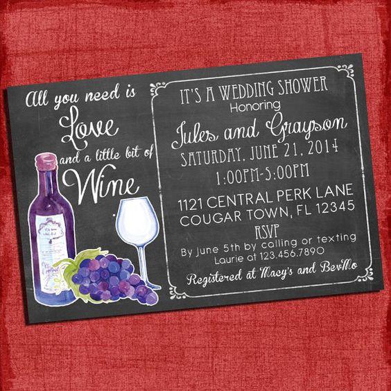 Printable Wine Theme Couples/Coed Wedding Shower
