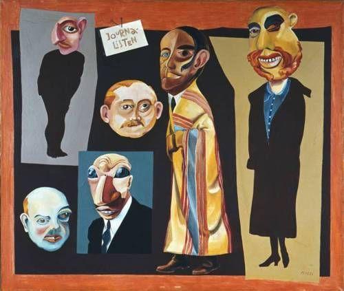 Hannah Höch, Die Journalisten, 1925, oil on canvas, 86 x 101 cm,