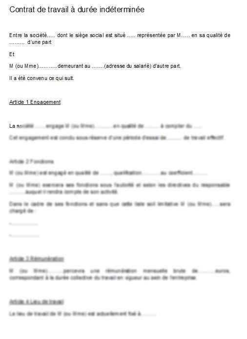 Modele Contrat De Travail Cdd Gratuit Word Document Online Modele Contrat De Travail Contrat Travail