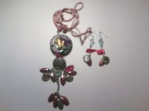 Up-cycled Gemstone Artistic South-western Silk Cord Necklace